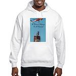 A Woman Belongs on a Pedestal Hooded Sweatshirt