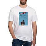 A Woman Belongs on a Pedestal Fitted T-Shirt