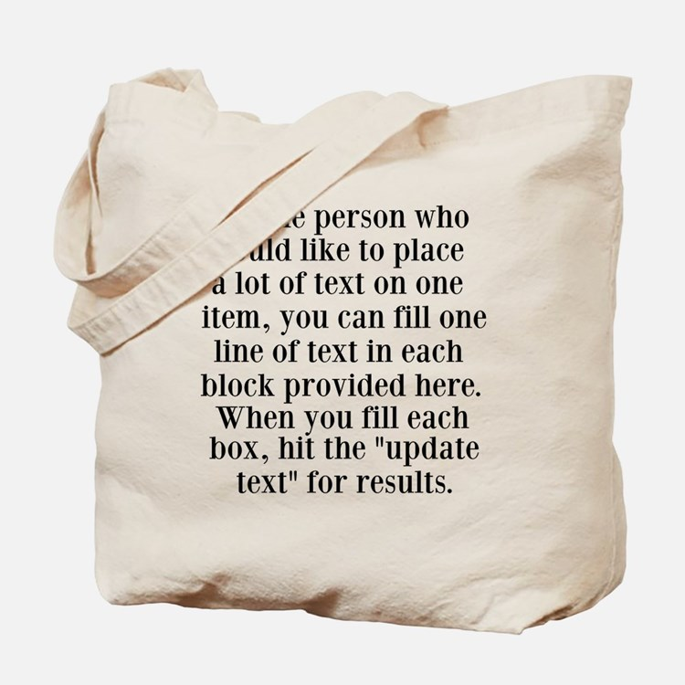 Lines of Text to Personalize Tote Bag