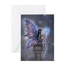 Little Blue Moon Fairy Fantasy Art Greeting Cards