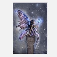 Little Blue Moon Fairy Fantasy Art Postcards (Pack