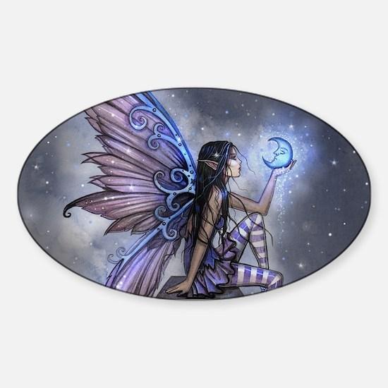 Little Blue Moon Fairy Fantasy Art Decal