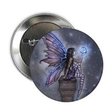 "Little Blue Moon Fairy Fantasy Art 2.25"" Button"