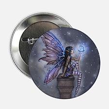 "Little Blue Moon Fairy Fantasy Art 2.25"" Button"