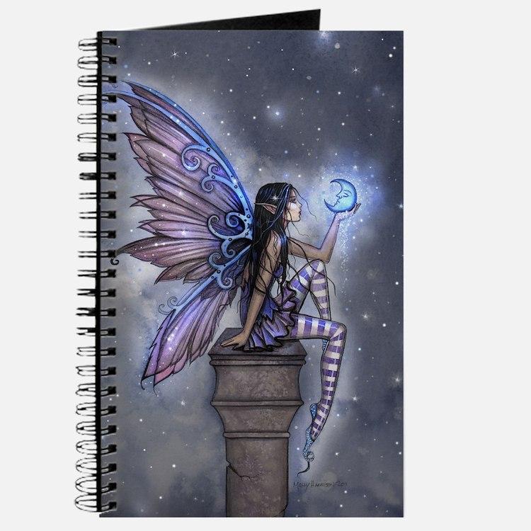 Little Blue Moon Fairy Fantasy Art Journal