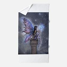 Little Blue Moon Fairy Fantasy Art Beach Towel
