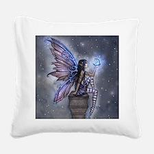 Little Blue Moon Fairy Fantasy Art Square Canvas P