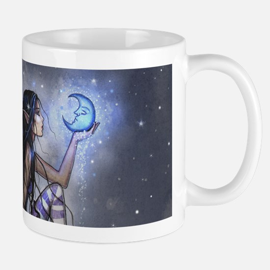 Little Blue Moon Fairy Fantasy Art Mugs