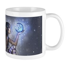 Little Blue Moon Fairy Fantasy Art Mugs