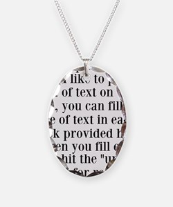 Lines of Text to Personalize Necklace