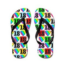 Love Filled 18th Flip Flops
