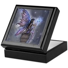 Little Blue Moon Fairy Fantasy Art Keepsake Box