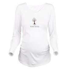 Cute Solstice Long Sleeve Maternity T-Shirt