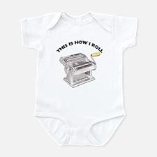How I Roll Pasta Infant Bodysuit