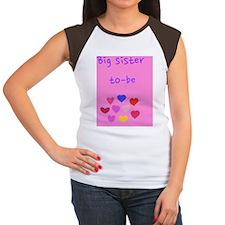 BIg sister to be Women's Cap Sleeve T-Shirt