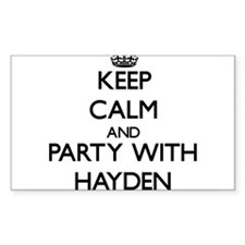 Keep calm and Party with Hayden Decal