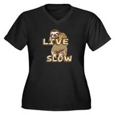 Funny Sloth - LIVE SLOW Plus Size T-Shirt