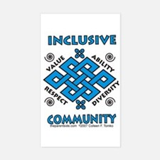 Inclusive Community Rectangle Decal