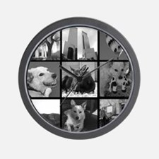 Your Photos Here - Photo Block Wall Clock