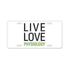 Physiology Aluminum License Plate