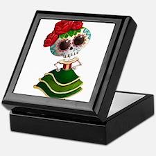 El Dia de Los Muertos Skeleton Girl Keepsake Box
