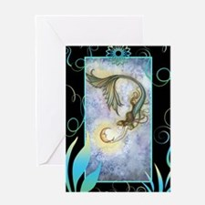Deep Sea Moon Mermaid Fantasy Art Greeting Card