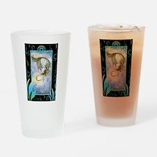 Deep Sea Moon Mermaid Fantasy Art Drinking Glass