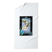 Deep Sea Moon Mermaid Fantasy Art Beach Towel