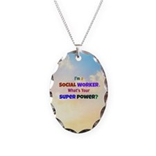 I'm a Social Worker - clouds Necklace
