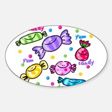 Candy Oval Decal
