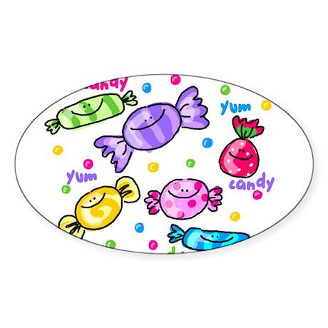 Candy Oval Sticker