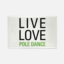 Pole Dance Rectangle Magnet