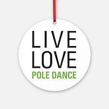 Pole Dance Ornament (Round)