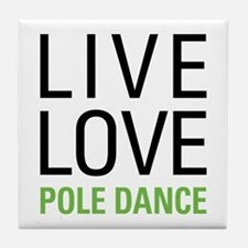 Pole Dance Tile Coaster