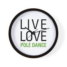 Pole Dance Wall Clock