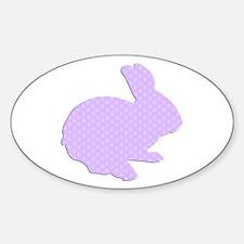 Purple Polka Dot Silhouette Easter Bunny Decal