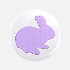 "Purple Polka Dot Silhouette Easter Bunny 3.5"" Butt"
