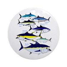 7 tuna Ornament (Round)
