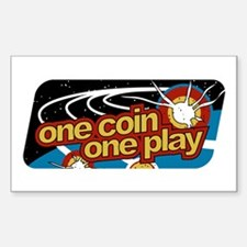 One Coin Rectangle Decal