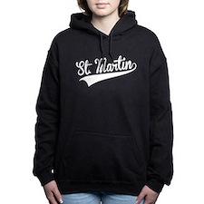 St. Martin, Retro, Women's Hooded Sweatshirt