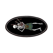Bagpiper Skeleton Patches
