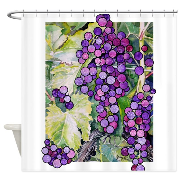 Grape2 Shower Curtain By Zodiarts