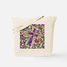3 Crosses in colorful gems Tote Bag