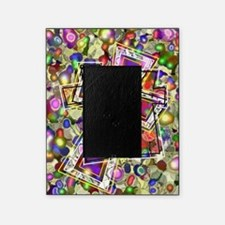 3 Crosses in colorful gems Picture Frame