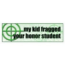 Fragged Bumper Bumper Sticker