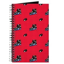 Scarlet Red Hockey Pattern Journal