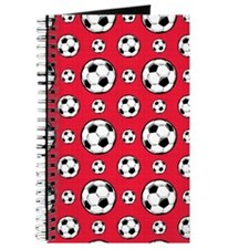 Scarlet Red Soccer Ball Pattern Journal