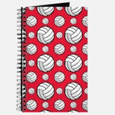 Scarlet Red Volleyball Pattern Journal
