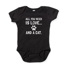 Love And A Cat Baby Bodysuit