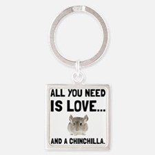 Love And A Chinchilla Keychains